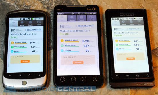 Тест скорости Evo 4G Wifi
