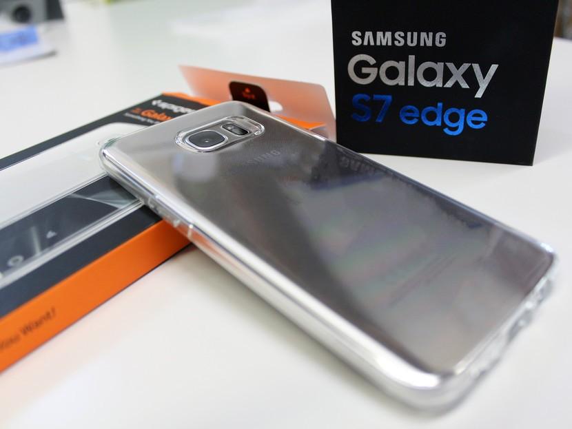 Spigen жидкокристаллический чехол для Galaxy S7 edge