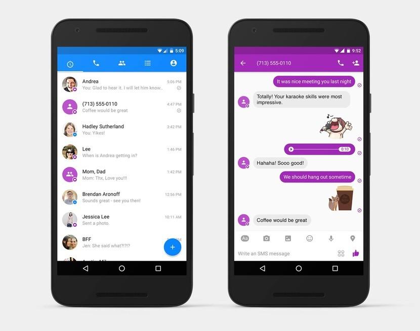 Facebook Messenger теперь позволяет отправлять и получать текстовые сообщения