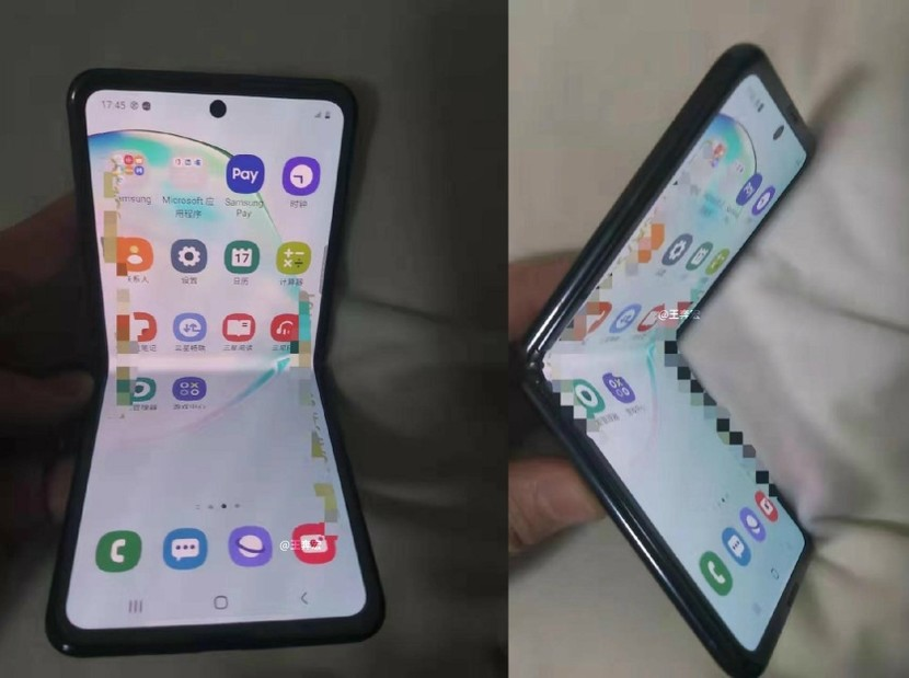 Samsung Clamshell Foldable Leaked Live Image