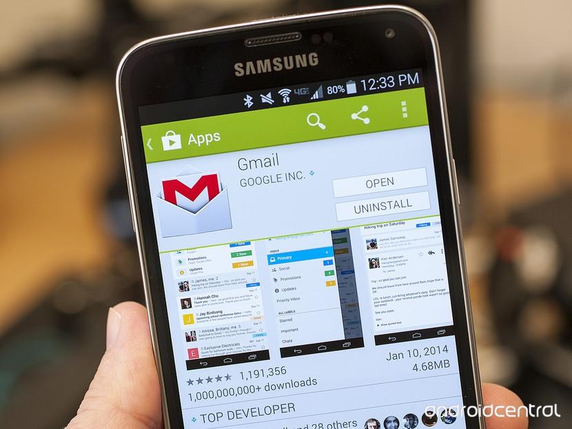 Список приложений Gmail