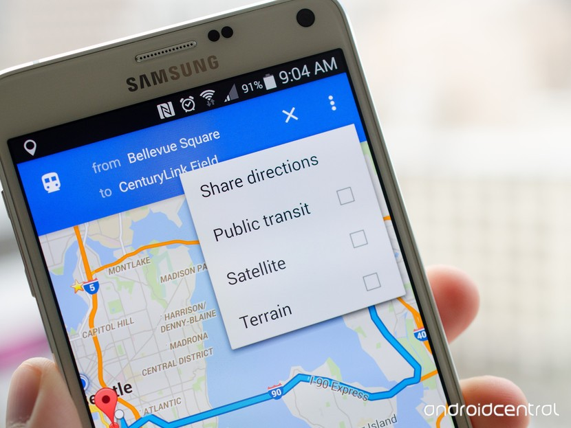 Google Maps Direction Sharing