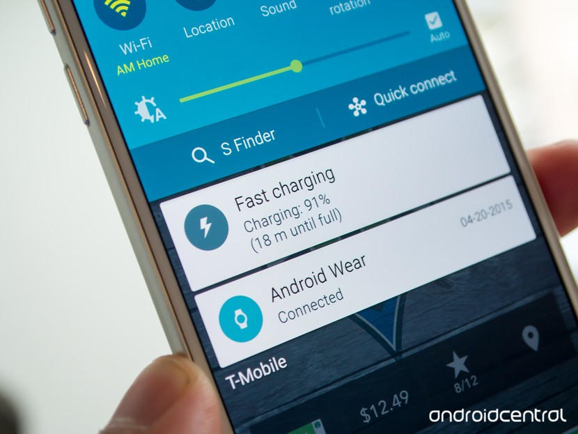 Galaxy S6 fast charging notification