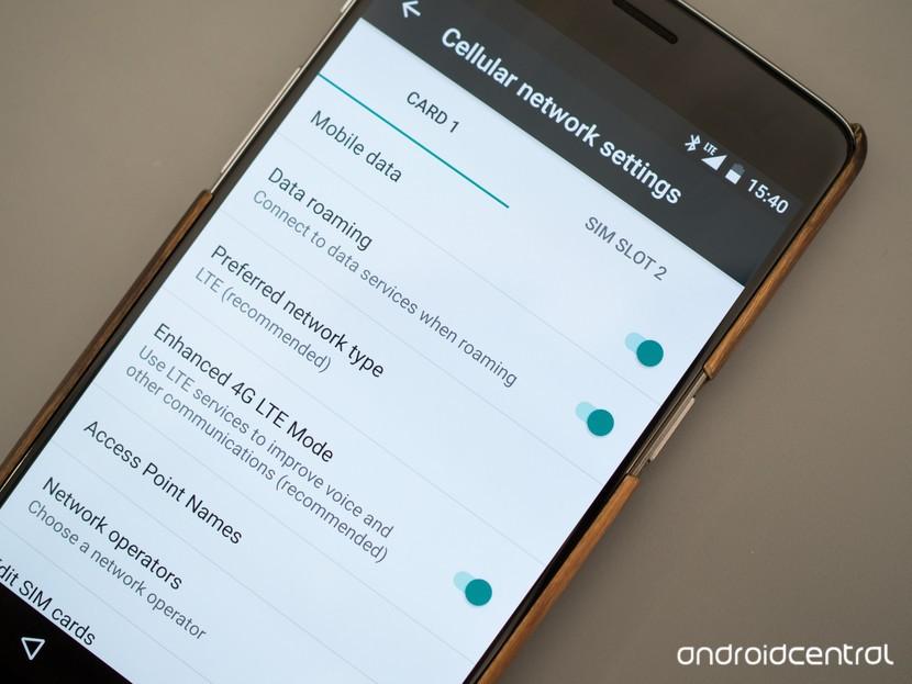 Настройки мобильной сети OnePlus 3