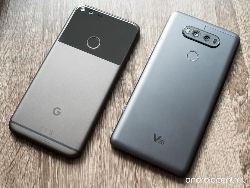 Google Pixel XL против LG V20