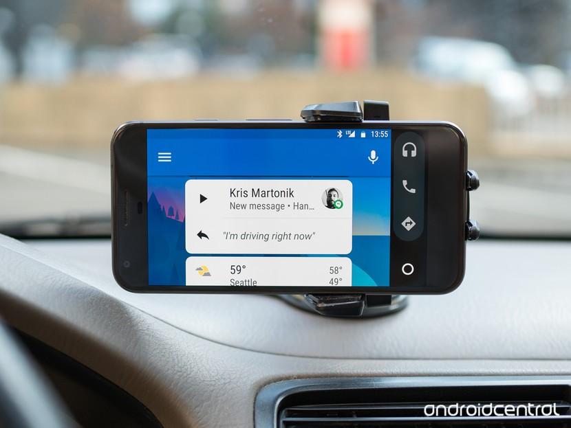 Android Авто на телефоне