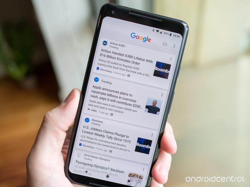 Google Now подаётся на Pixel 2 XL