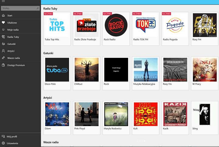 Приложение Tuba.FM для windows 10 радио
