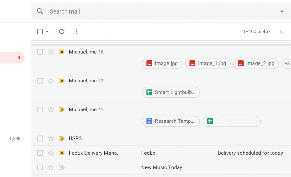 входящие Gmail
