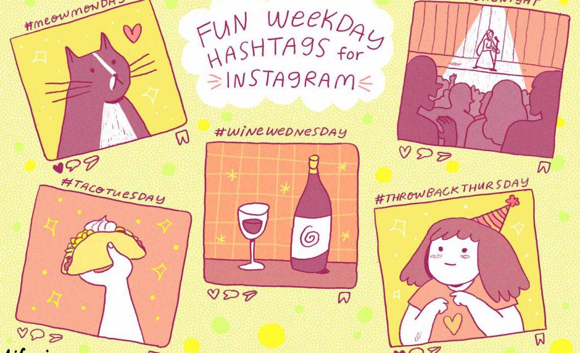 Веселые хэштеги для Instagram