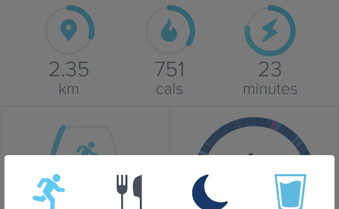 Главный экран приложения Fitbit