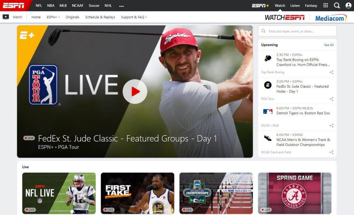 смотреть прямые спортивные трансляции на espn