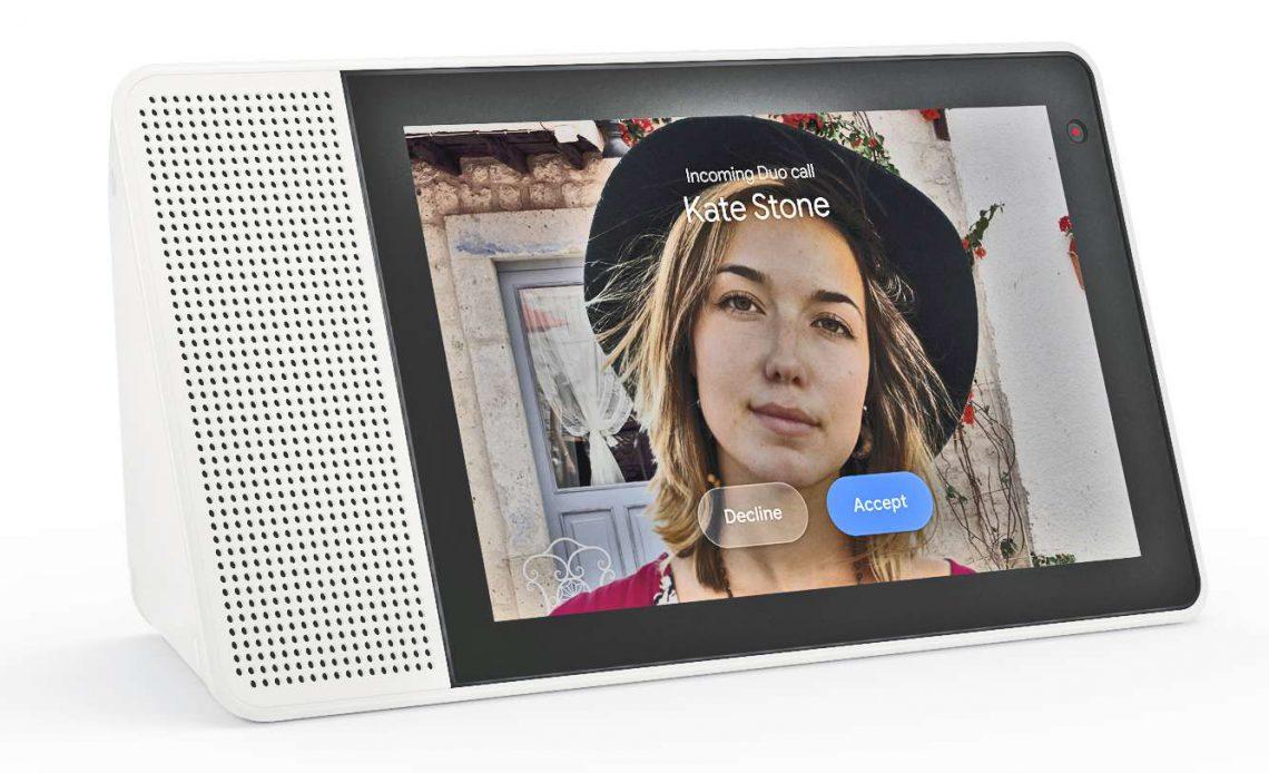 Lenovo Smart Display - Видеозвонок Google Duo по горизонтали