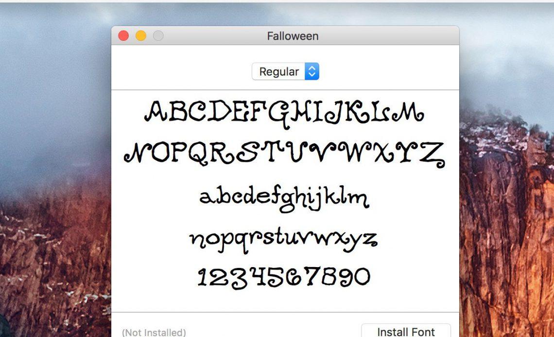 Различные шрифты на рабочем столе Mac