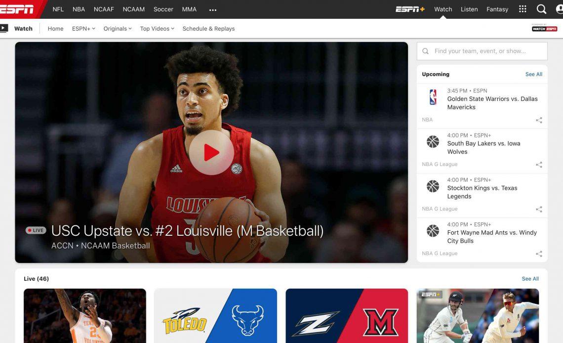 ESPN Смотреть страницу