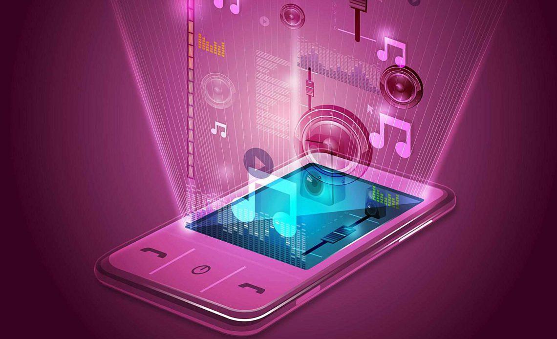 Иллюстративное изображение развлекательного приложения для мобильного телефона