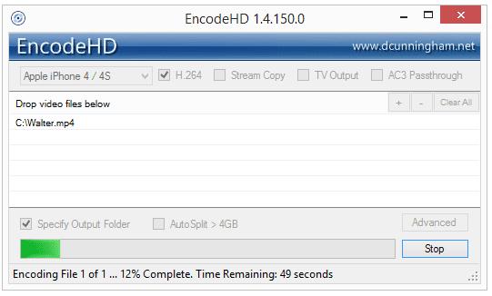 EncodeHD - бесплатное программное обеспечение Video Converter