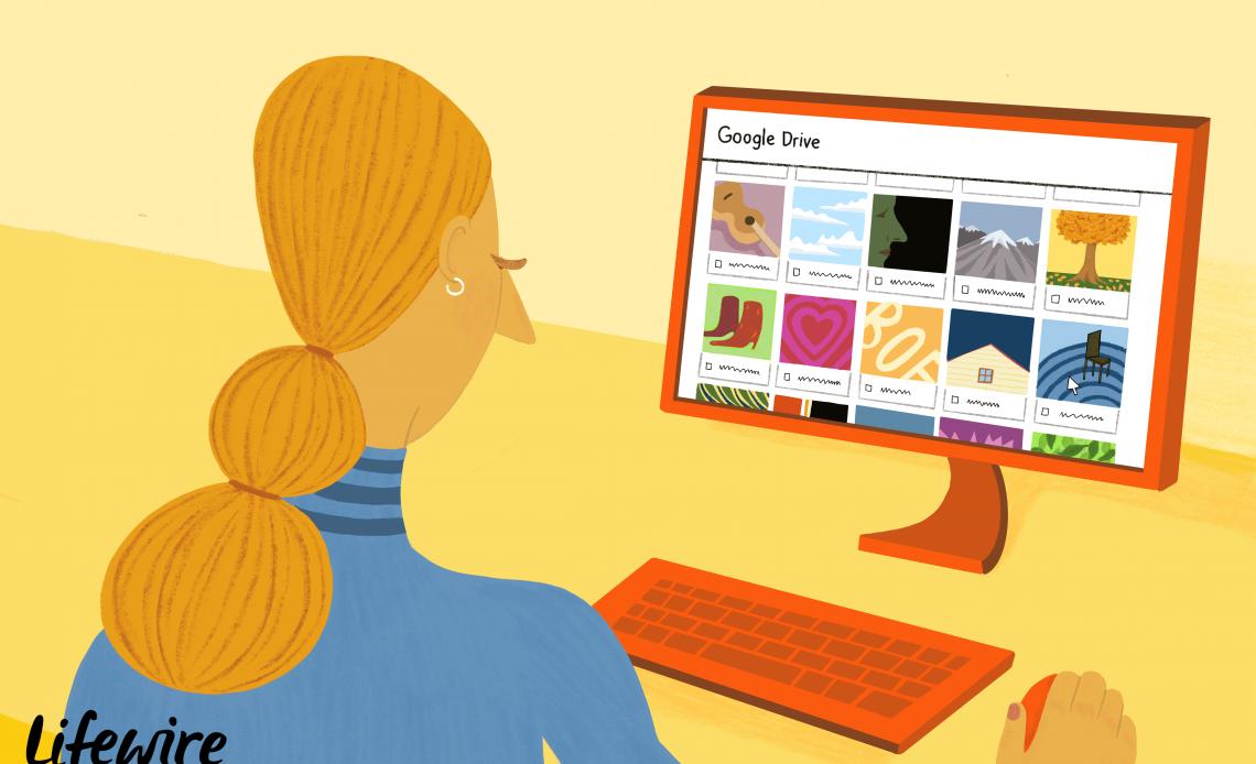 Лицо, использующее Google Drive на компьютере
