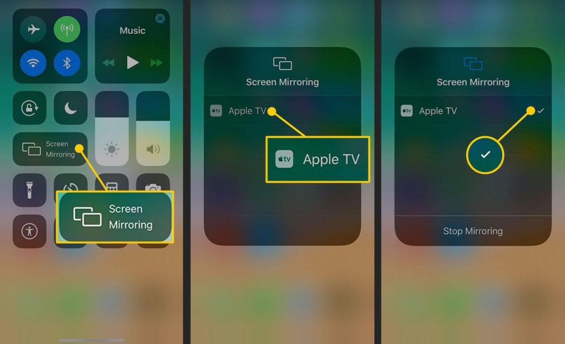 Зеркальное отображение экрана на iPhone