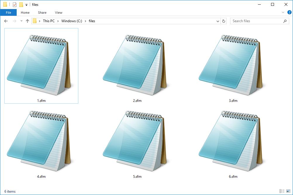 Текстовые файлы SFM в Windows 10