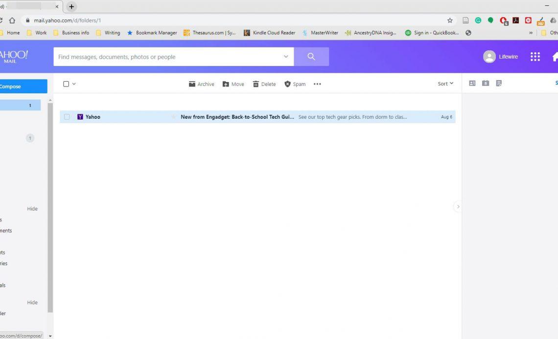 Почтовый ящик Yahoo Mail.