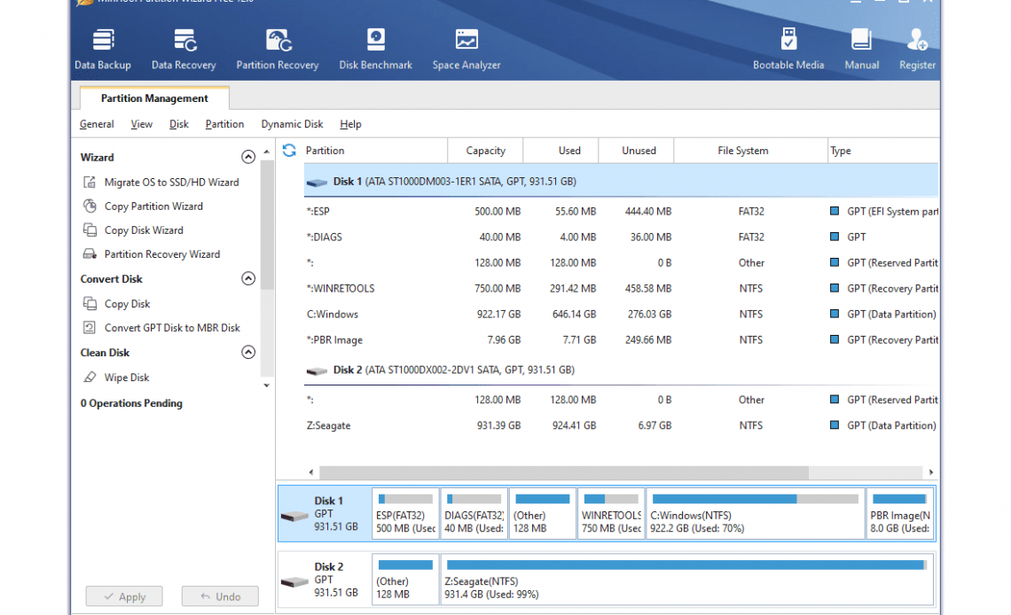 MiniTool Partition Wizard Free 12.0