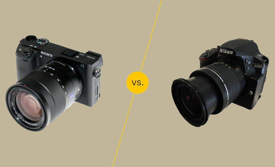 Беззеркальная камера и зеркальная камера