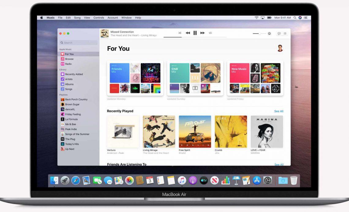 macOS новое музыкальное приложение Каталины