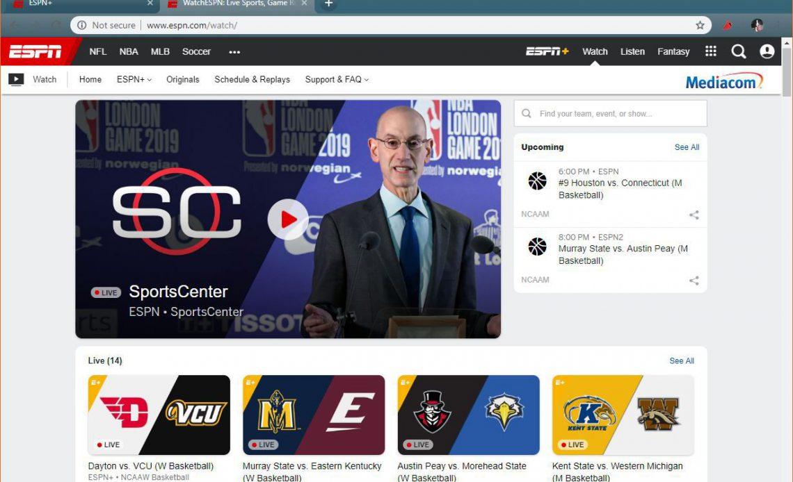 Скриншот ESPN.com.