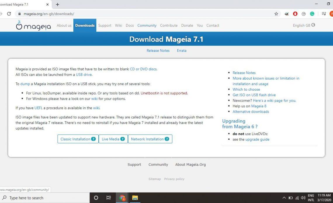 Перейдите на страницу загрузки Mageia и выберите Live Media