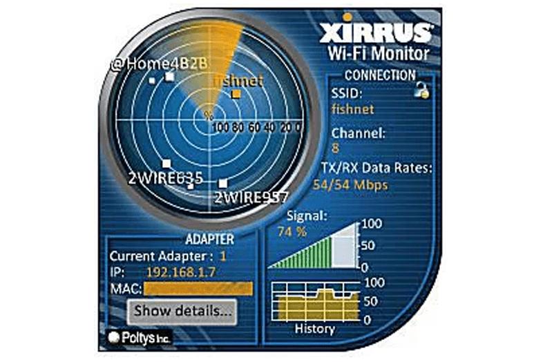 Xirrus Wi-Fi Monitor Windows гаджет