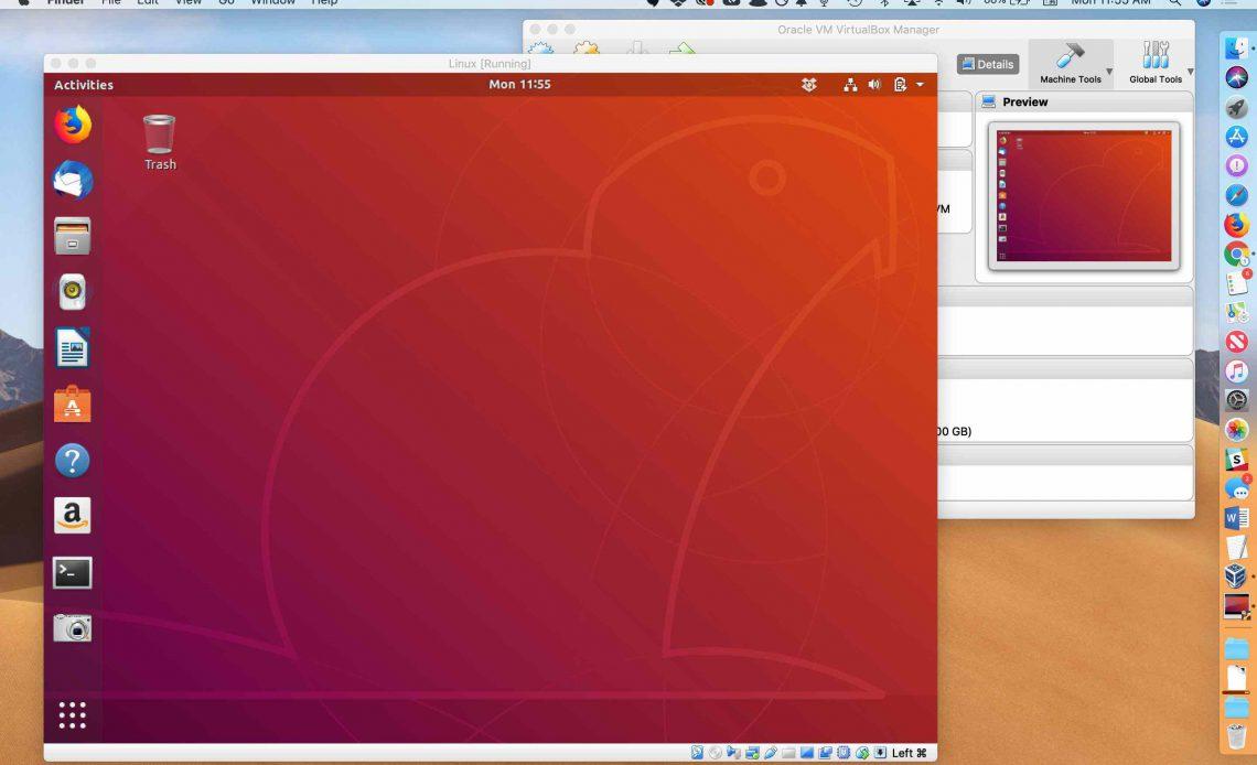 Виртуальный ящик под управлением Linux на macOS