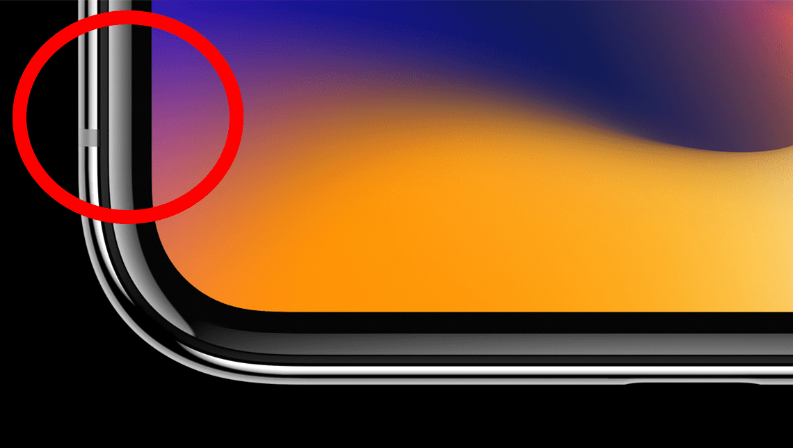 Крупным планом ободок iPhone X