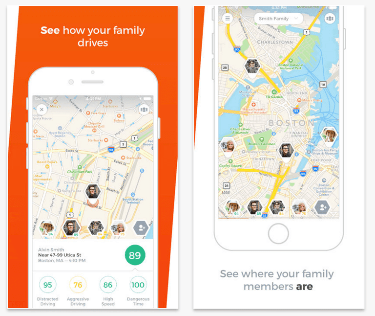Снимок экрана приложения TrueMotion Family Safe Driving