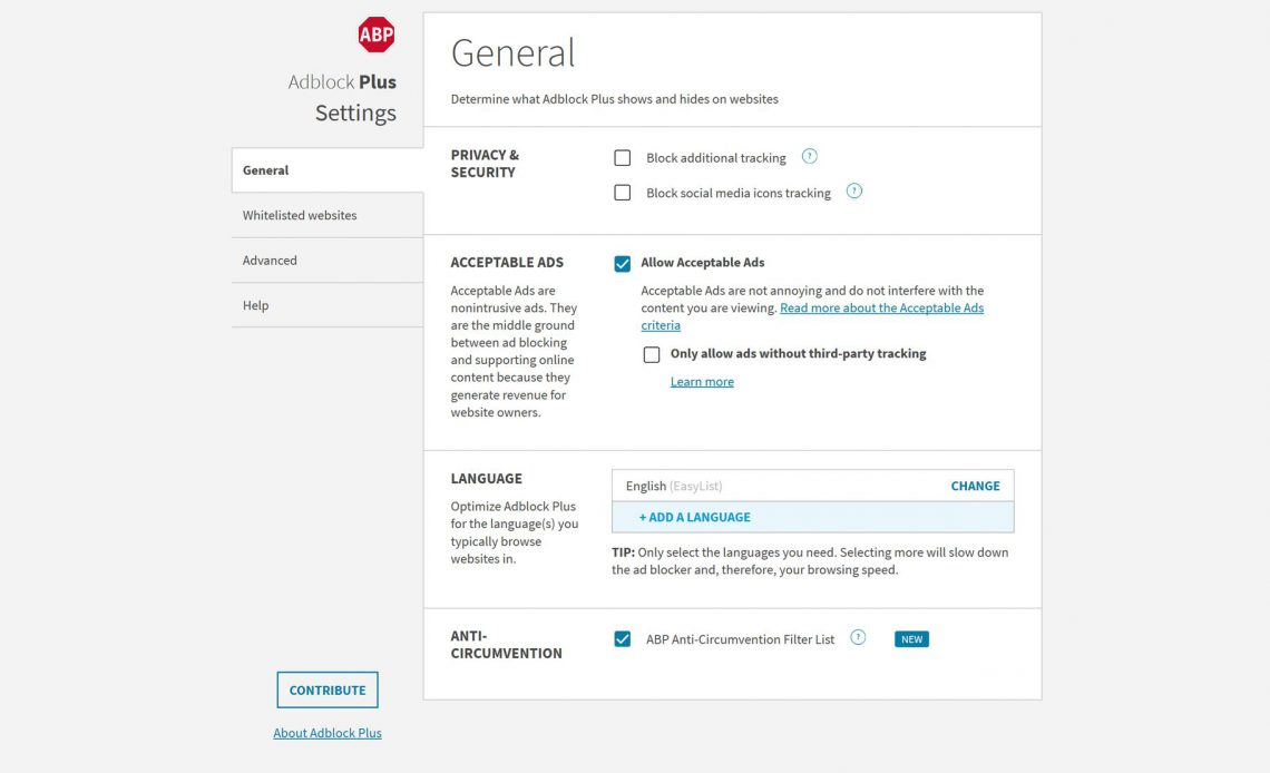 AdBlock Plus расширение для веб-браузера.