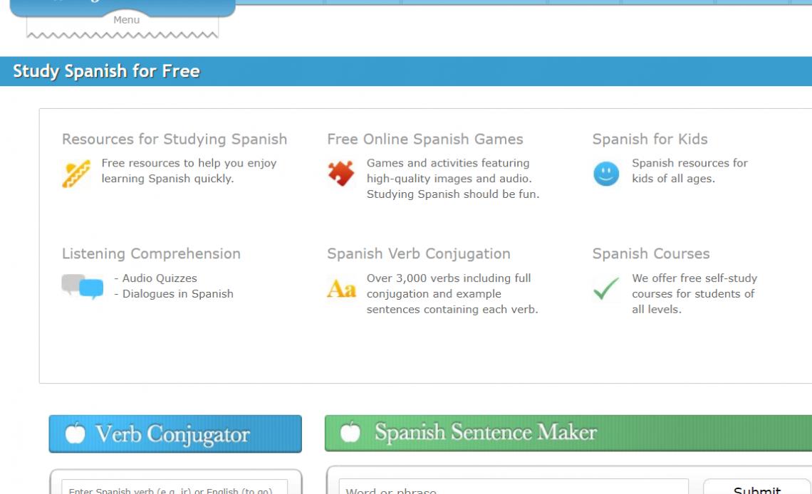 123TeachMe бесплатный сайт для изучения испанского языка