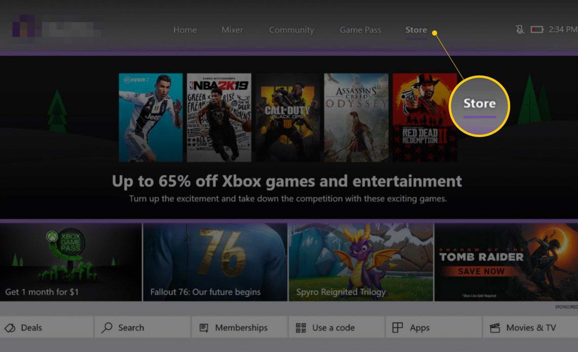 Кнопка Сохранить на Xbox One