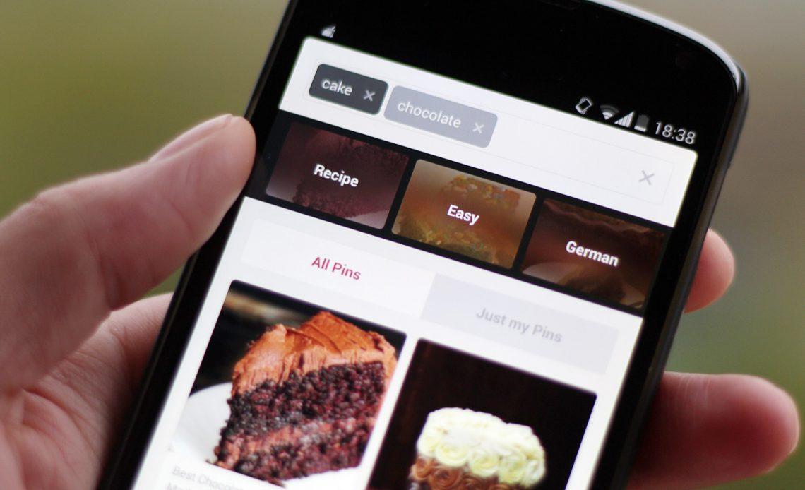 Откройте для себя Pinterest всего за несколько нажатий, так как управляемый поиск приходит в мобильные приложения