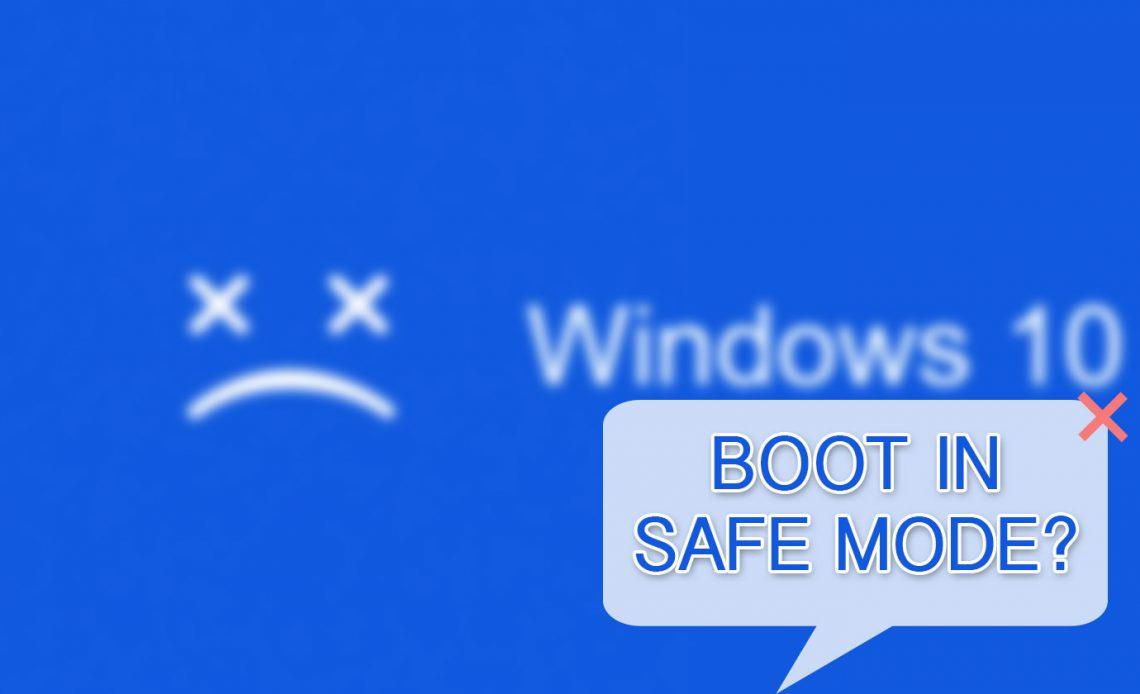 Как загрузиться в безопасном режиме на Windows 10