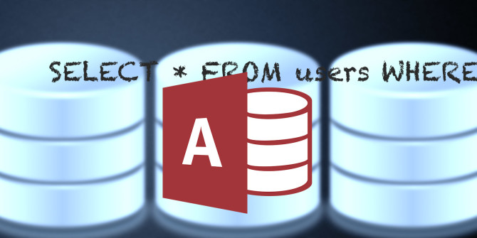 Как писать запросы Microsoft Access SQL с нуля
