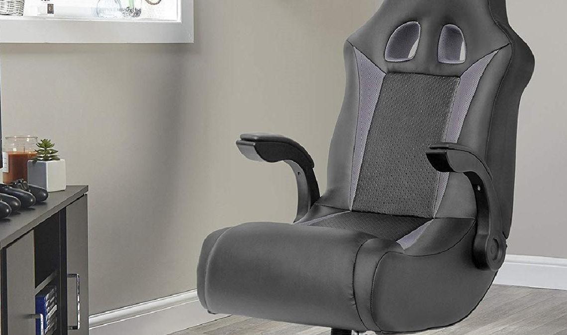 An X Rocker gaming chair.