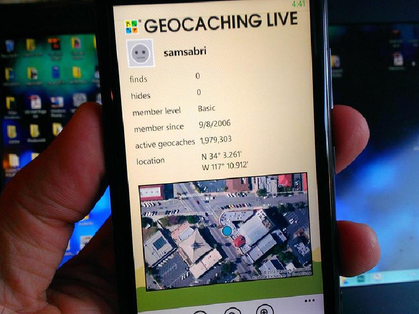 Geocaching Live для Windows Phone