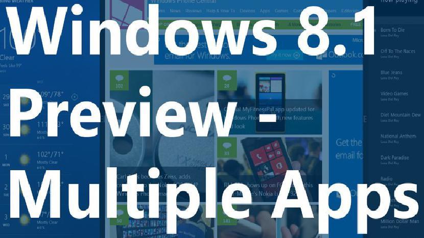 Несколько приложений в Windows 8.1