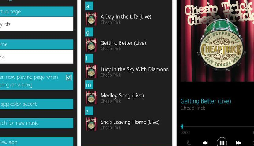 OneMusic Screens