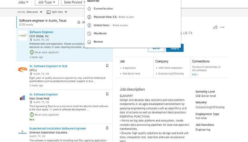 LinkedIn дает охотникам за работой усовершенствованный опыт поиска, добавляет фильтр удаленной работы