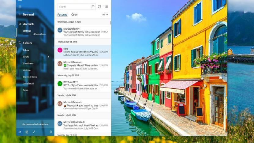 Почтовое приложение Windows 10 тестирует новый внешний вид, темный режим с инсайдерами