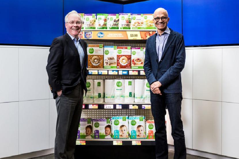 Microsoft и Крогер - партнер в экспериментальном опыте «подключенного магазина»