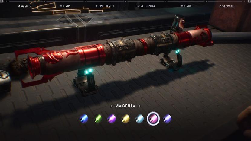 Star Wars Jedi Fallen Order lightsaber colors