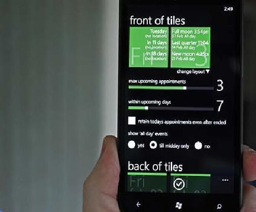 Appointile для Windows Phone
