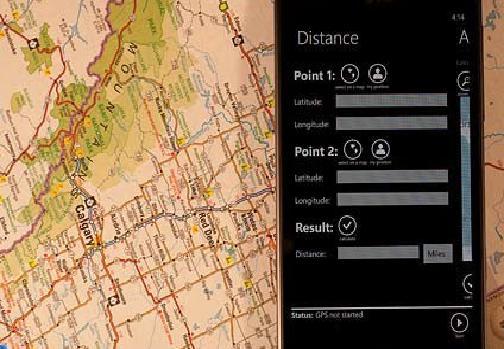GPS-калькулятор для Windows Phone